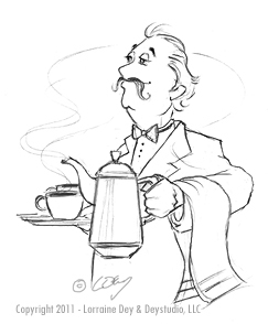 coffee waiter art