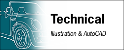 Technical Illustration & AutoCAD Tearsheet Samples
